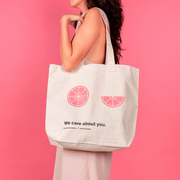 Tote bag 'We care about you' | Freshly Cosmetics