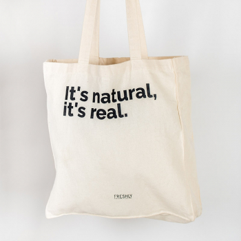 Tote bag it's natural, it's real