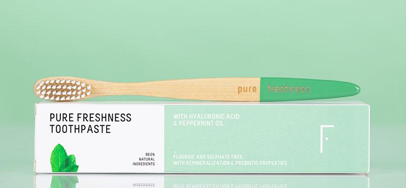 Bamboo toothbrush by Freshly Cosmetics
