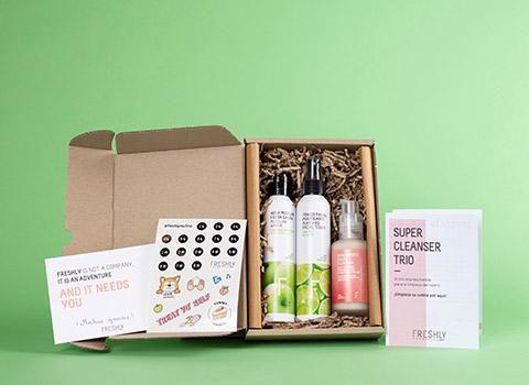 Packaging Sostenible Freshly Cosmetics