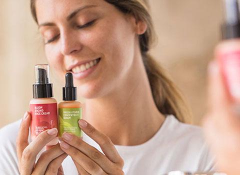 Serum facial natural y crema facial hidratante