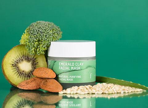 Mascarilla Facial Emerald Clay Freshly Cosmetics