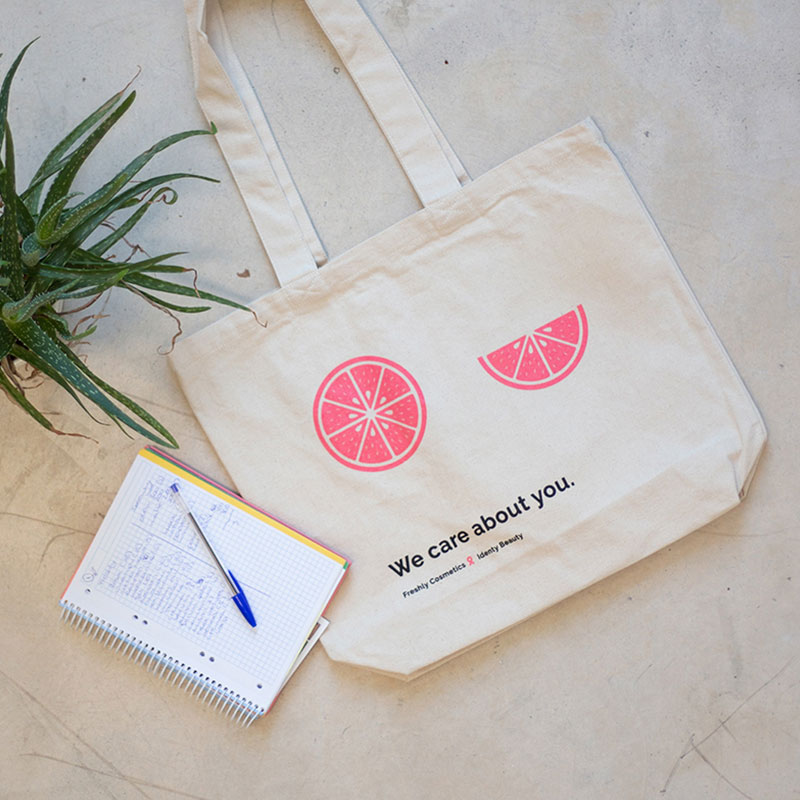 Canvas bag 'We care about you' | Freshly Cosmetics