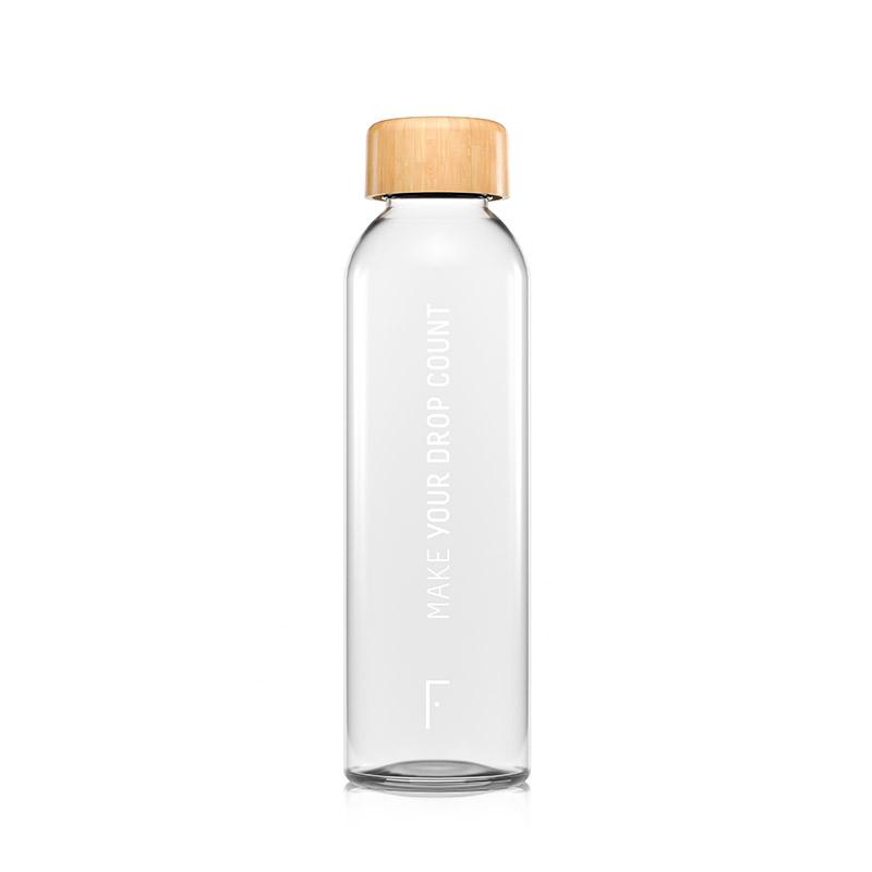 Reusable Glass Water Bottle   Freshly Cosmetics