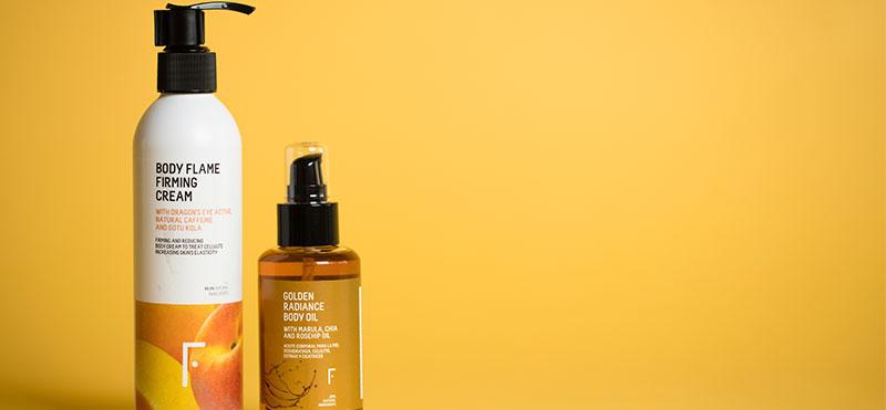 Combina el Body Oil y la Body Flame para un cuidado corporal completo