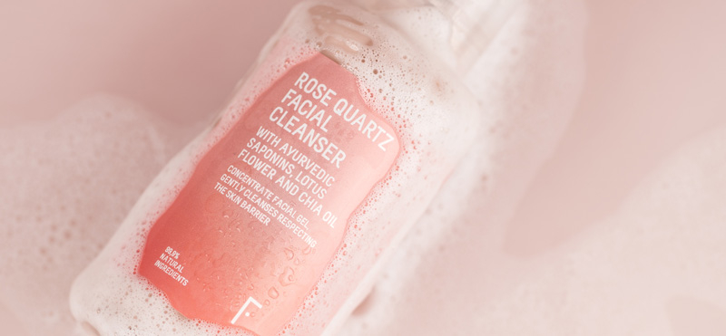 Rose Quartz, the natural facial cleansing gel to cleanse and spoil your skin
